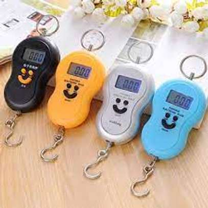 LCD Weighing Scale 50kg Portable Hanging Balance Smile Shape Digital Display, food shopping & Kitchen electronic scale (Very Effective) image 3
