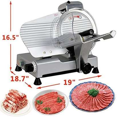 """10"""" Meat Slicer Semi-Auto Stainless Steel Cutter Cheese Food Electric Blade Kitchen Deli/Veggies for Commercial & Home image 5"""