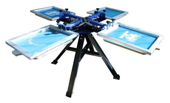 4 Color 4 Station Screen Printing Press machine image 2