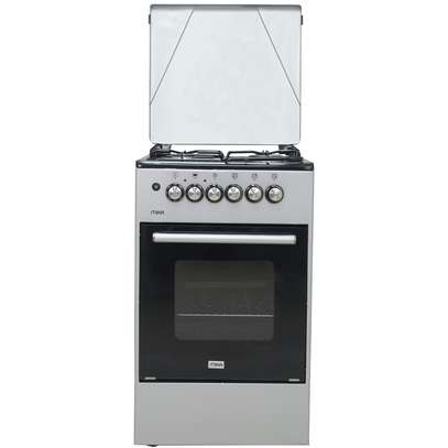 Mika Standing Cooker, 50cm X 50cm, 3 + 1, Electric Oven, Silver - Free Regulator, Pipe and Delivery image 1