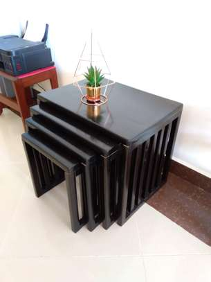 Modern Black Wood Coffee Table image 7