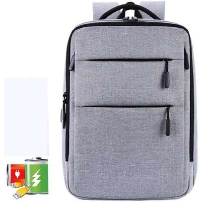 Multipurpose Antitheft Backpack Laptop Bag - Grey