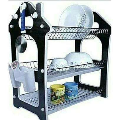 3 tie dish rack with drain boad