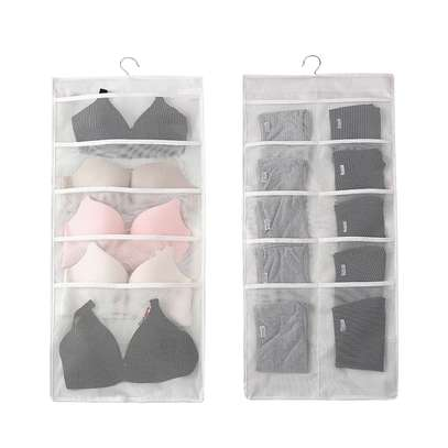 Double sided Panty /socks/bra organizer - enough space to fit unfolded bra image 2