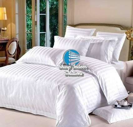 Stripped white cotton duvet covers image 7