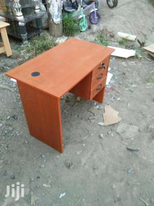 Portable office table with cable hole image 1