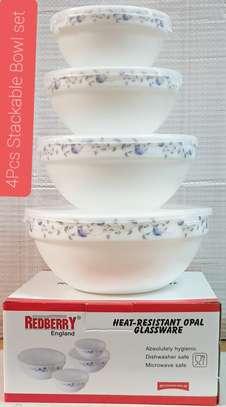 4 pcs stackable Bowls image 3
