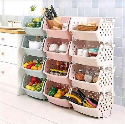 4 tier Fruits and vegetable stand image 1