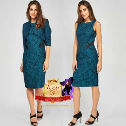 Patterned Pencil Dress Suit From UK image 3