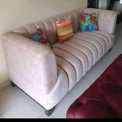 Stylish Beautiful Contemporary Quality Welted 3 Seater Sofa image 1