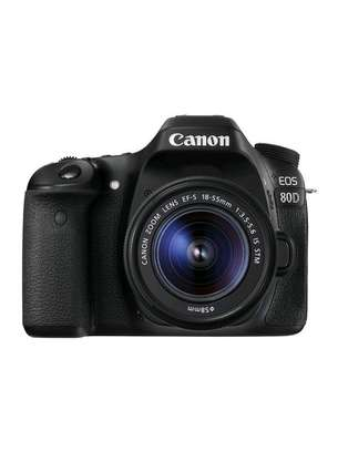 Canon EOS 80D DSLR Camera 18-55mm Lens image 1