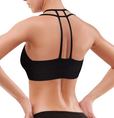 Padded Strappy Sports Bra Yoga Tops Activewear Workout Clothes for Women image 4