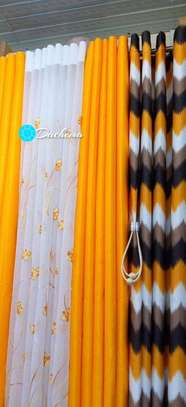 yellow customized double sided curtains image 1