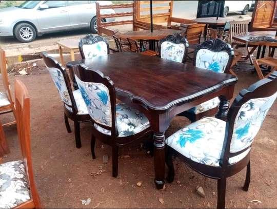 Solid Mahogany Wood Dining Table Sets image 1