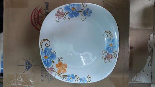 6pc square dinner plate/Round dinner plate/Glass plate/Flowered plates image 6