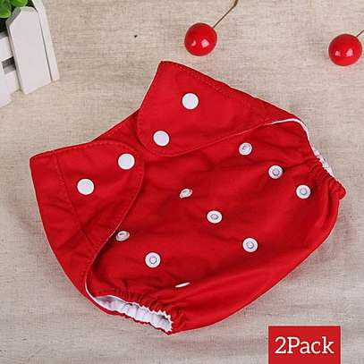 3 piece Washable Reusable Adjustable Baby Diaper with 3 Insert image 2