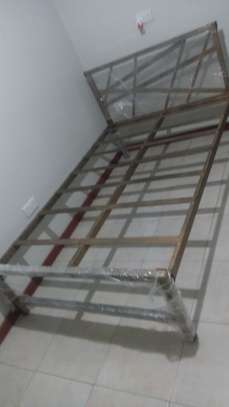 METAL FRAME BED WITH WOODEN FINISH FROM 3*6 TO 6*6 image 10