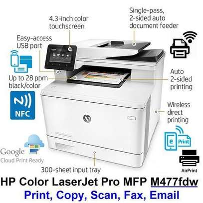 SHARE THIS PRODUCT   HP LaserJetPro M477fdw WIFI-Fax Scan Print Copy Email image 1