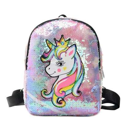 Rainbow Stars Unicorn Backpack image 1