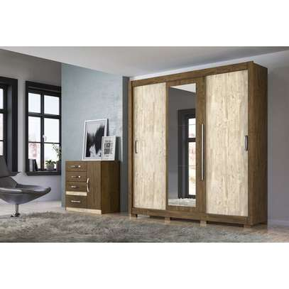 Wardrobe with 3 Sliding Doors - Moval Montreal - Brown Hazelnut image 3