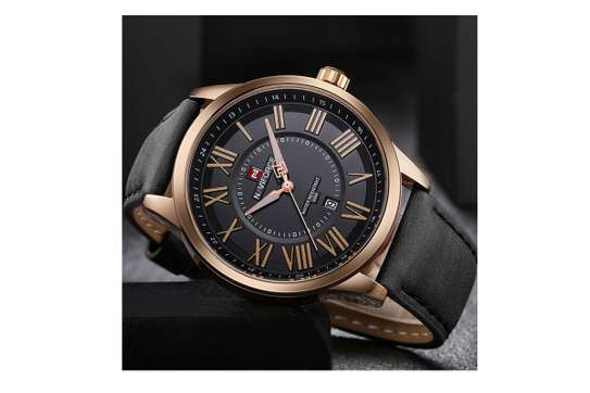 NAVIFORCE Casual/Official Luxury  Leather Wristwatch Waterproof with Date Display Clock image 3