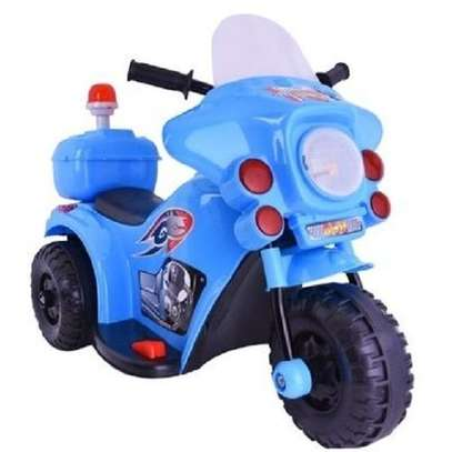Small Size Kid's Ride On Motorcycle- BLUE(Assembled) image 1