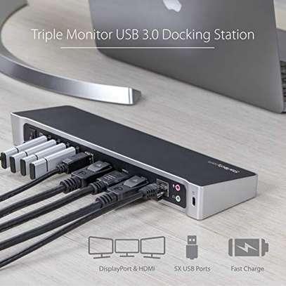 StarTech.com Triple Monitor USB 3.0 Laptop Docking Station - 4K HDMI, 2X DisplayPort - Universal USB Dock for Windows & Mac OS image 2