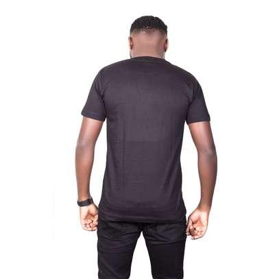 Black Cotton T-Shirt image 2