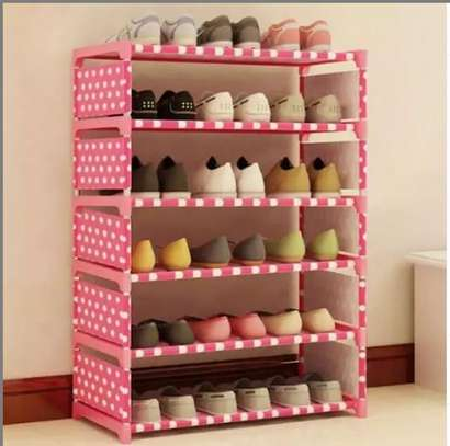 6 tier portable shoe rack 18 pairs image 1
