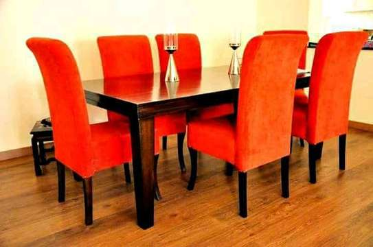6 Seater Mahogany Dining Table Sets.
