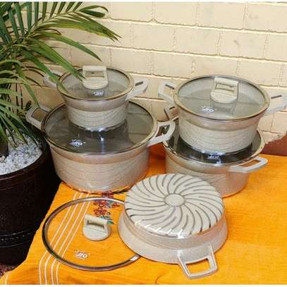 10 PC GRANITE COOKWARE WITH LIDS image 1