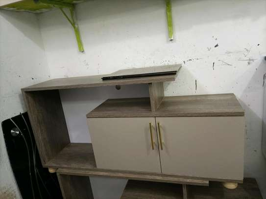 Wooden grey tv stand 404h image 1