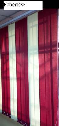 maroon and white blended blinds image 2