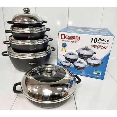 Dessini Non-Stick Cooking Pots Cookware set - 10pcs Dessini Die cast Set. image 2