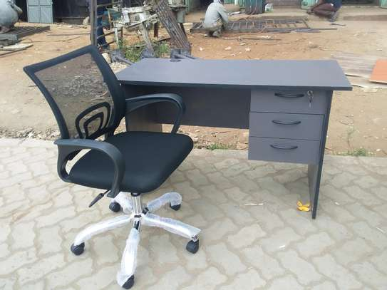 Office desk and chair. image 1
