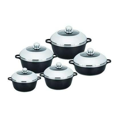 Dessini Non-Stick Cooking Pots Cookware set - 10pcs Dessini Die cast Set image 3