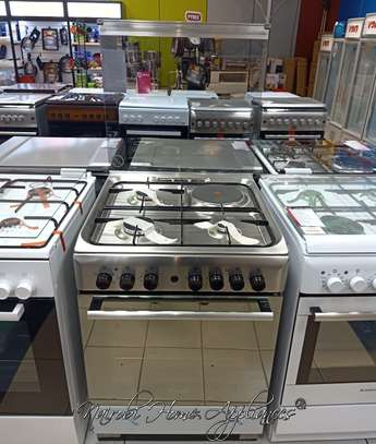 Ariston CX61SN1(X)(EX S)/A6MSH2F (X) 3 Gas + 1 Electric Cooker Stainless steel image 1