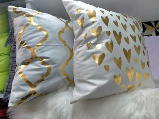 Gold Coated Throw Pillows image 1