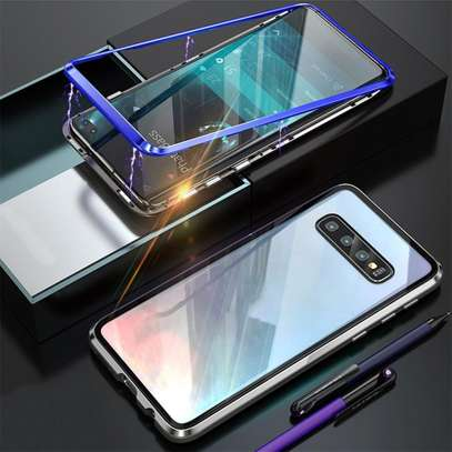 Magnetic Luxury Cases For Samsung S10 S10e S10 Plus With Tempered Back Glass image 7