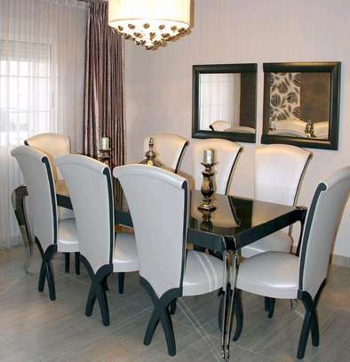 Eight seater dining table set for sale in Nairobi Kenya/Quality and affordable dining table set for sale in Nairobi Kenya/Wooden dining tables/Classic dining tables/Modern eight seater dining table set image 1