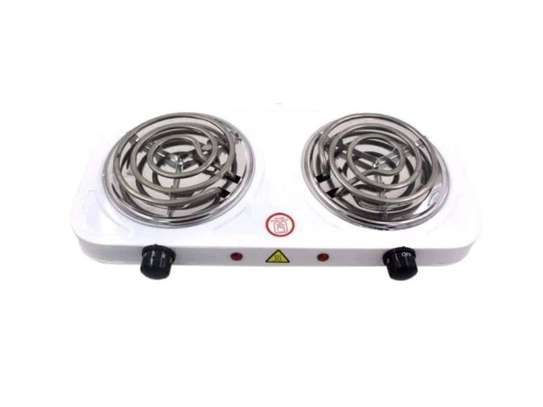 Hot Plate Electric Double Sprial Hotplate Cooker-White image 1