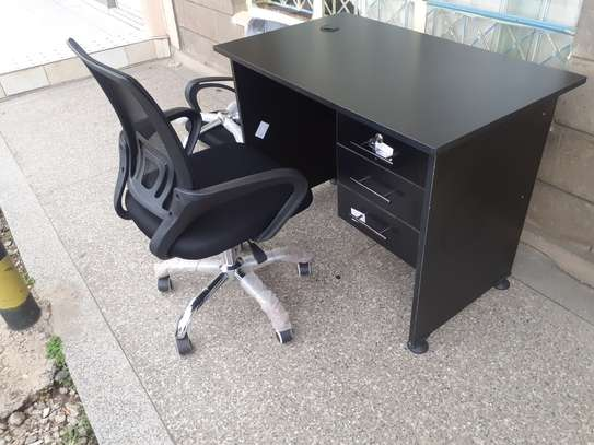 Office Desk 1Meter Black & Chair Ksh. 12,500.00 With Free Delivery image 11