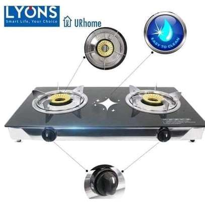 LYONS  GS003 Glass Table Top double Burner Stove image 1