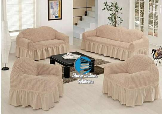 5 cushion couch Elastic Sofa cover image 8