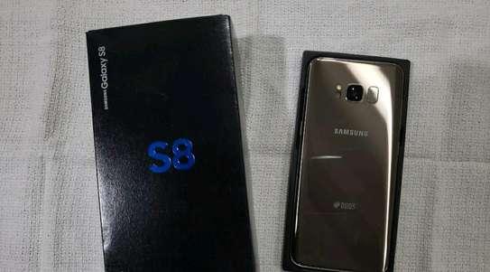 Samsung Galaxy S8 / 128 Gigabytes /  Gold And Wireless Galaxy Buds image 2
