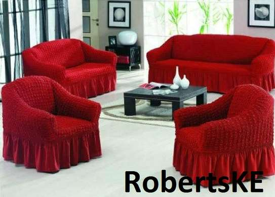 marron sofa covers image 1