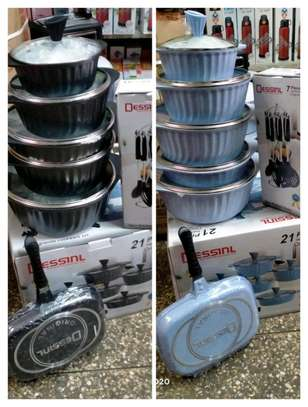 21pcs desini granite cookware set image 1