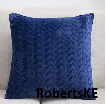 Blue throw pillows image 1