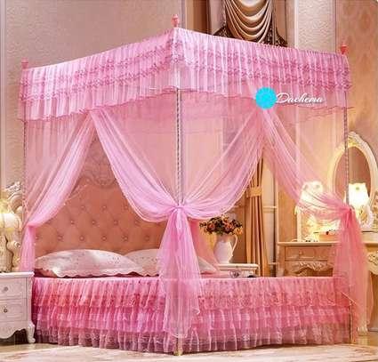 pink straight mosquito nets image 1
