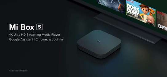 Xiaomi Mi Box S Android TV with Google Assistant Remote Streaming Media Player - Chromecast Built-in - 4K HDR - Wi-Fi - 8 GB - Black image 2